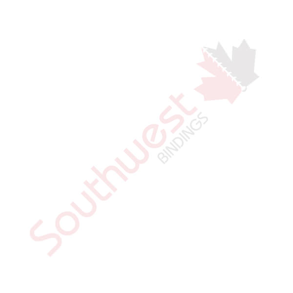 """8 1/2 x 11 Channel Soft Cover Clear/Maroon """"g"""""""
