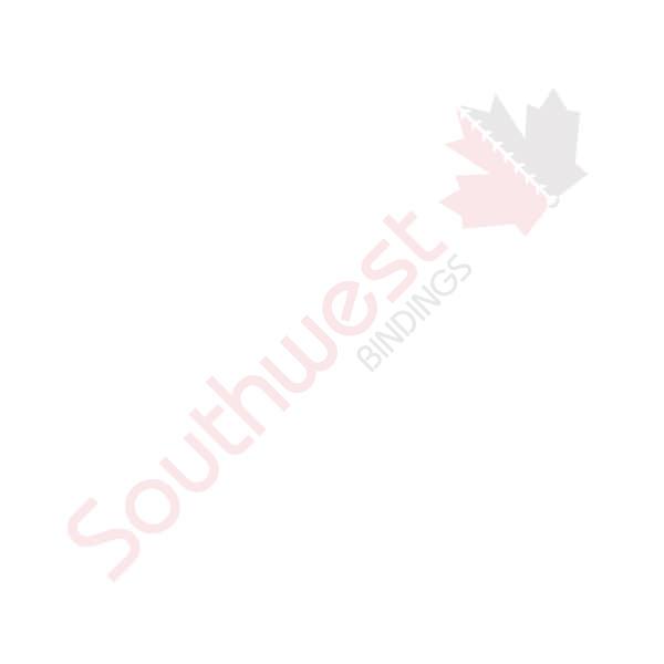 1/4 x 19r White Metal Binding (Spiral-o)