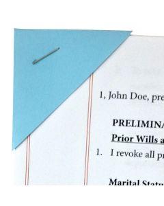 Document Corners Blue (Unassembled)