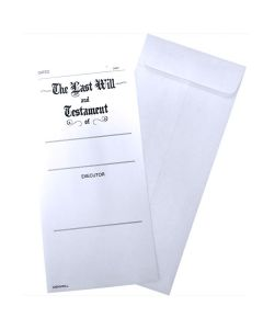 "Open end Envelope "" The Last Will & Testament"""