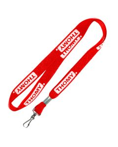 "3/8"" Lanyard Red with Swivel Hook Print 1 Side"