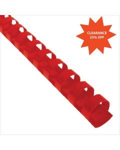 1-3/4 x 19r Red Plastic Bindings
