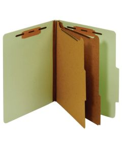 "Classification Folders 11"" Green PU-61"