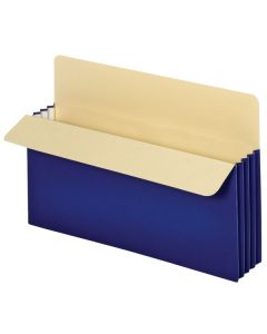 "Vertical File Pockets 3.5"" - Legal Blue"