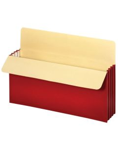 "Vertical File Pockets 3.5"" - Legal Red"