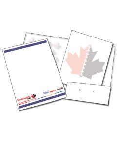 White 12 x 18 Twin Pocket Folder Kit