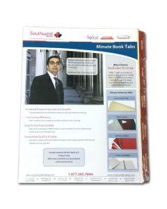 Minute Book Tabs SAMPLE PACK - 3 holes