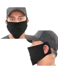 Micro Fleece Daily Face Mask w/3 ear holes BLACK