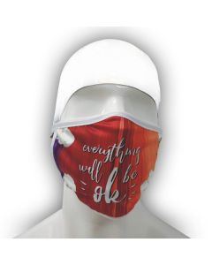 Protective Mask W/ 2pcs filter 220G Polyester printed