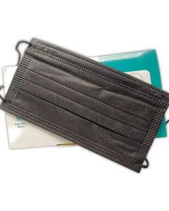 Disposable Three-Layer Face Mask - BLACK