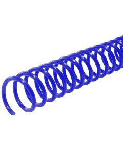 Reliure à spirale Plastic Coil 7mm 12'' Bleu Pas 4:1
