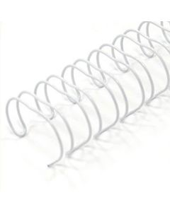 5/16 x 19r White Metal Binding (Spiral-o)