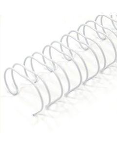 7/16 x 19r White Metal Binding (Spiral-o)