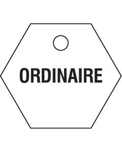 "Small ""ORDINAIRE"" CPPI Fuel Tags 2.5"" x 2.5"""