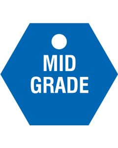 "Small ""MID GRADE"" CPPI Fuel Tags 2.5""x2.5"""