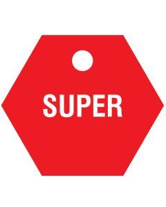"""Small """"SUPER"""" CPPI Fuel Tag 2.5""""x2.5"""""""