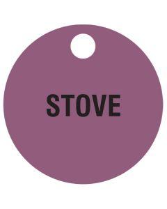 """Small """"STOVE"""" CPPI Fuel Tag 2.5""""x2.5"""""""