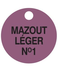 """Small """"MAZOUT LEGER NO.1"""" CPPI Fuel Tag 2.5""""x2.5"""""""