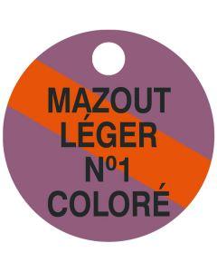 """Small """"MAZOUT LEGER NO.1 COLOUR"""" CPPI Fuel Tag 2.5x2.5"""