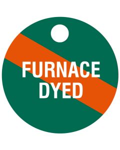 "Small ""FURNACE DYED"" CPPI Fuel Tag 2.5""x2.5"""