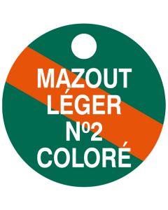 """Small """"MAZOUT LEGER NO.2 COLOUR"""" CPPI Fuel Tag 2.5x2.5"""