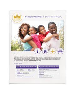 Imprimer carte d'identité 90lb replier 1up #8221