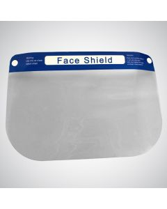 "Ultra Clear Plastic Face Shield 13' W x 9"" H"