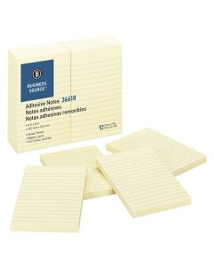 "Sticky Notes Yellow 3"" x 5"" 12/pk"