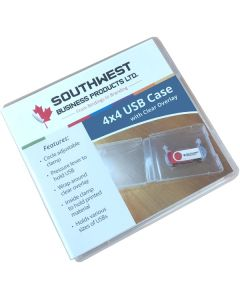 "USB case 4"" x 4"" w/ clear overlay"