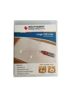 "USB Case Large 5 1/4"" x 6 3/4"" w/Clear overlay"