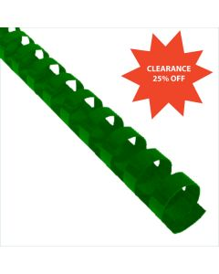 3/4 x 19r Green Plastic Bindings