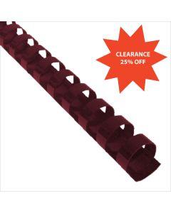 7/8 x 19r Maroon Plastic Bindings