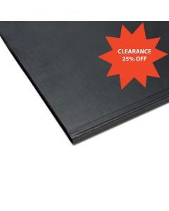 "8 1/2"" x 11"" Channel Hard Cover, Black *c* #21135"